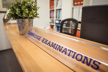 Cambridge Exams desk at IH Palemro LC